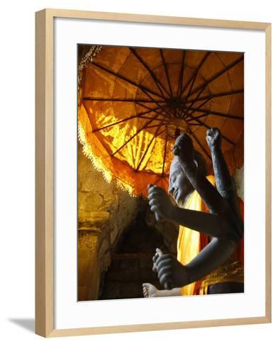 Vishnu Statue, Angkor Wat, Angkor, UNESCO World Heritage Site, Siem Reap, Cambodia--Framed Art Print