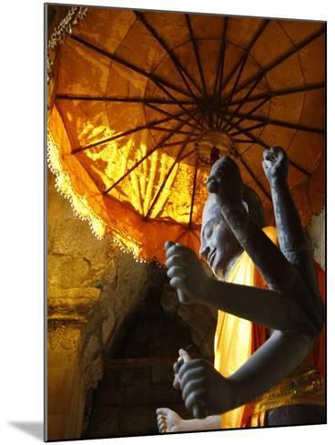Vishnu Statue, Angkor Wat, Angkor, UNESCO World Heritage Site, Siem Reap, Cambodia--Mounted Photographic Print