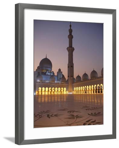 Sheikh Zayed Grand Mosque, the Biggest Mosque in the U.A.E., Abu Dhabi--Framed Art Print