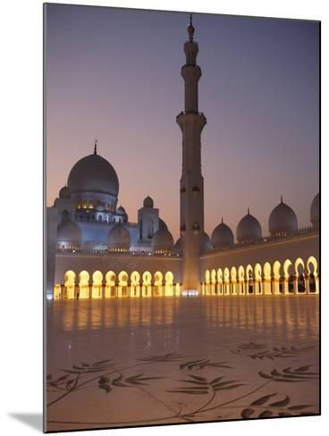 Sheikh Zayed Grand Mosque, the Biggest Mosque in the U.A.E., Abu Dhabi--Mounted Photographic Print