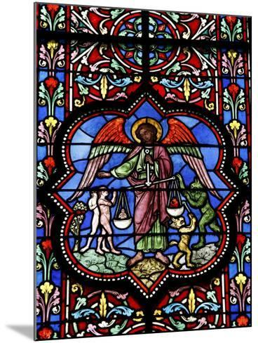 Stained Glass in Notre Dame De Bayeux Cathedral, Bayeux, Normandy, France, Europe--Mounted Photographic Print