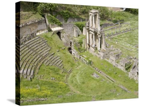 Roman Theater, Volterra, Tuscany, Italy, Europe--Stretched Canvas Print