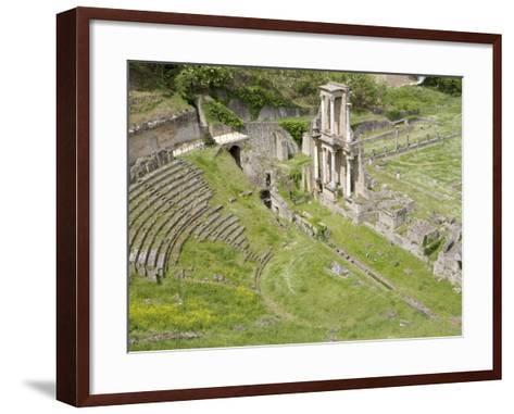 Roman Theater, Volterra, Tuscany, Italy, Europe--Framed Art Print