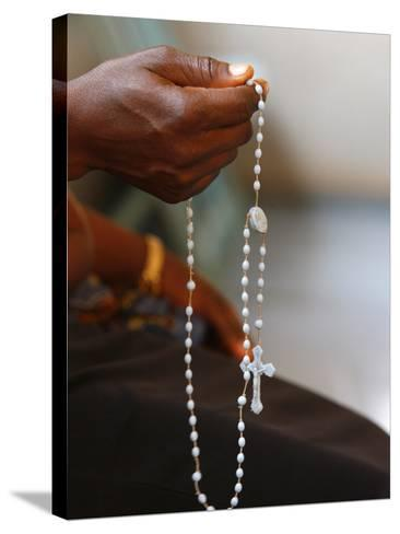 Prayer Beads, Lome, Togo, West Africa, Africa--Stretched Canvas Print