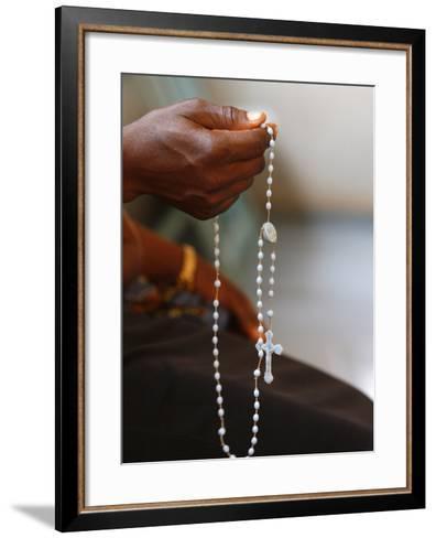 Prayer Beads, Lome, Togo, West Africa, Africa--Framed Art Print