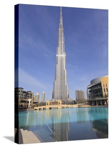 Burj Khalifa and Dubai Mall, Downtown, Dubai, United Arab Emirates, Middle East--Stretched Canvas Print