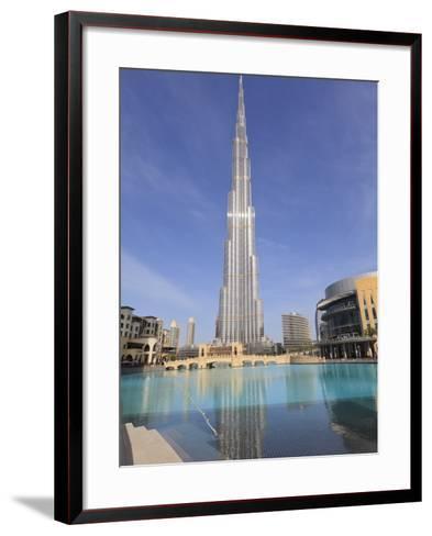 Burj Khalifa and Dubai Mall, Downtown, Dubai, United Arab Emirates, Middle East--Framed Art Print