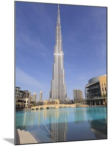 Burj Khalifa and Dubai Mall, Downtown, Dubai, United Arab Emirates, Middle East--Mounted Photographic Print