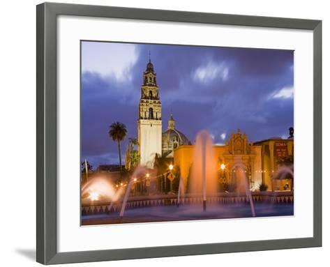 Fountain and Museum of Man in Balboa Park, San Diego, California--Framed Art Print