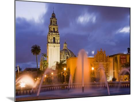 Fountain and Museum of Man in Balboa Park, San Diego, California--Mounted Photographic Print