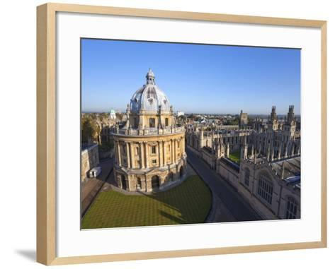 Radcliffe Camera and All Souls College, Oxford University, Oxford, England--Framed Art Print