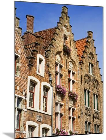 Gothic Buildings on Van Eyck Plaza, Bruges, West Flanders, Belgium, Europe--Mounted Photographic Print