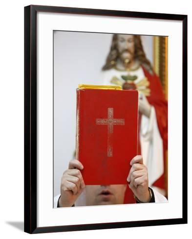 Chaldean Mass in Jabal Lweibdeh, Amman, Jordan, Middle East--Framed Art Print
