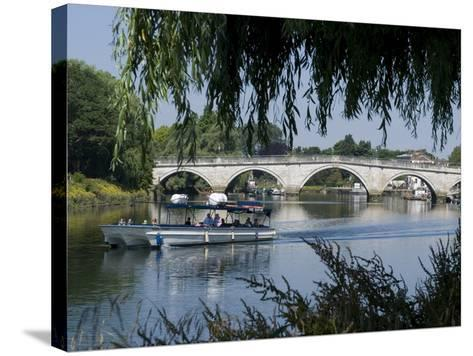 The Bridge Over the Thames at Richmond, Surrey, England, Uk--Stretched Canvas Print