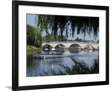 The Bridge Over the Thames at Richmond, Surrey, England, Uk--Framed Art Print