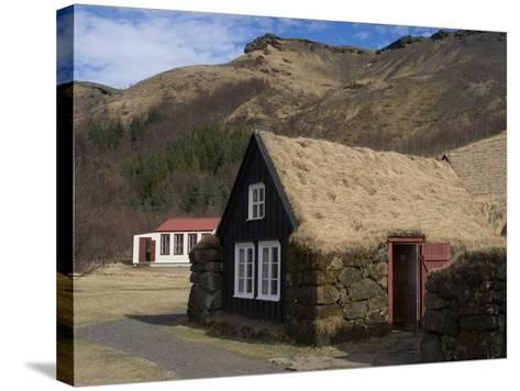 Typical Icelandic House From the Last Century, Skoga Museum, Near Skogafoss, South Iceland--Stretched Canvas Print