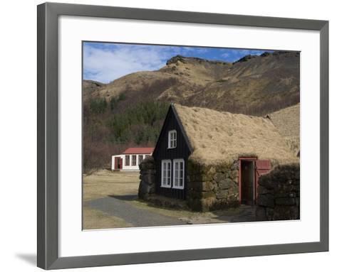 Typical Icelandic House From the Last Century, Skoga Museum, Near Skogafoss, South Iceland--Framed Art Print