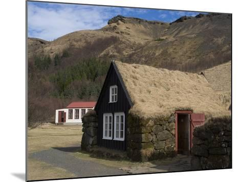 Typical Icelandic House From the Last Century, Skoga Museum, Near Skogafoss, South Iceland--Mounted Photographic Print