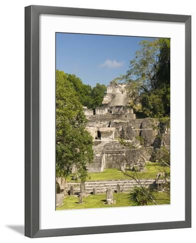 Great Plaza, North Acropolis, Tikal, UNESCO World Heritage Site, Tikal National Park, Guatemala--Framed Art Print