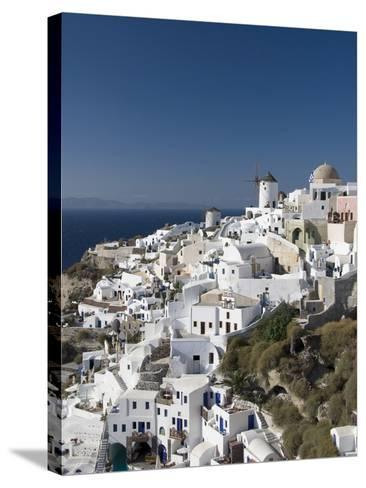 Oia, Santorini, Cyclades, Greek Islands, Greece, Europe--Stretched Canvas Print