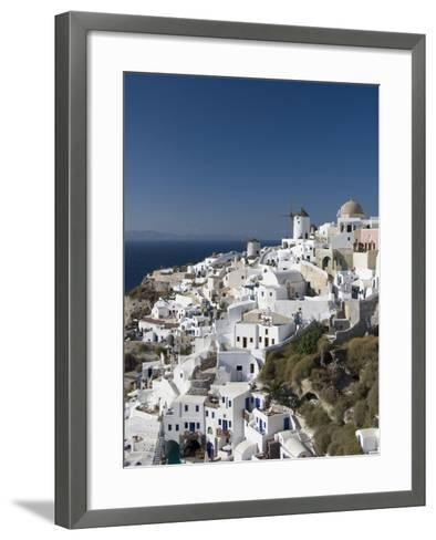 Oia, Santorini, Cyclades, Greek Islands, Greece, Europe--Framed Art Print