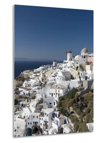 Oia, Santorini, Cyclades, Greek Islands, Greece, Europe--Metal Print