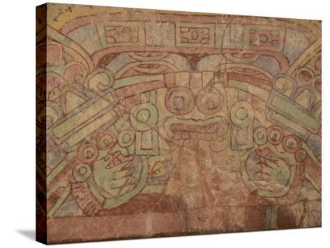 Detail of the Most Famous Fresco at Teotihuacan, Showing the Rain God Tlaloc, Mexico--Stretched Canvas Print