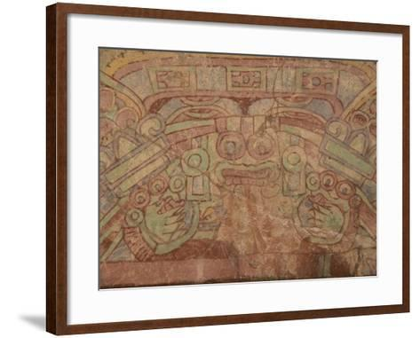 Detail of the Most Famous Fresco at Teotihuacan, Showing the Rain God Tlaloc, Mexico--Framed Art Print