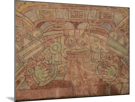 Detail of the Most Famous Fresco at Teotihuacan, Showing the Rain God Tlaloc, Mexico--Mounted Photographic Print