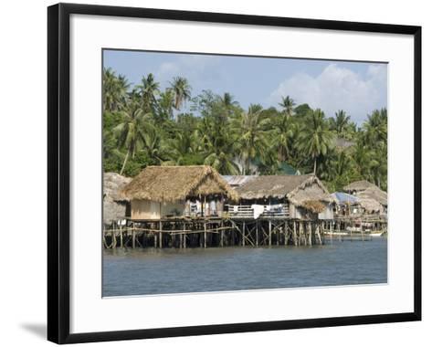 Fishermen's Stilt Houses, Pilar, Bicol, Southern Luzon, Philippines, Southeast Asia, Asia--Framed Art Print