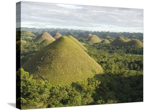 Chocolate Hills, Conical Hills in Tropical Limestone Karst, Carmen, Bohol, Philippines--Stretched Canvas Print