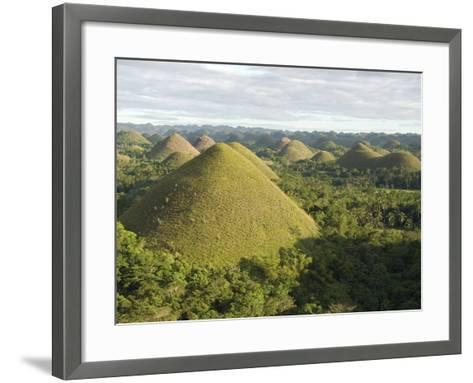 Chocolate Hills, Conical Hills in Tropical Limestone Karst, Carmen, Bohol, Philippines--Framed Art Print