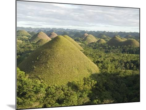Chocolate Hills, Conical Hills in Tropical Limestone Karst, Carmen, Bohol, Philippines--Mounted Photographic Print