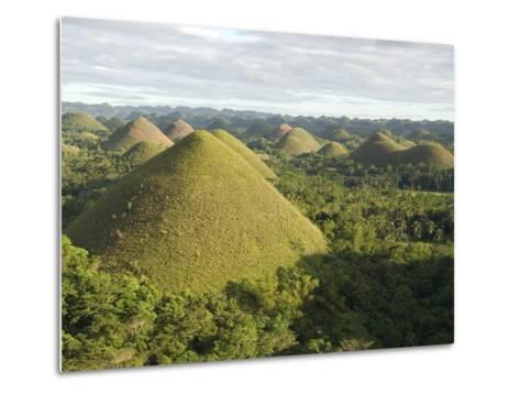 Chocolate Hills, Conical Hills in Tropical Limestone Karst, Carmen, Bohol, Philippines--Metal Print