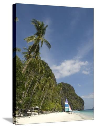 Entalula Island, Bacuit Bay, Palawan, Philippines, Southeast Asia, Asia--Stretched Canvas Print