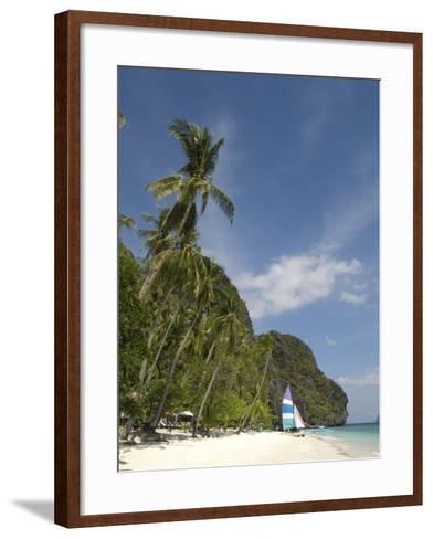 Entalula Island, Bacuit Bay, Palawan, Philippines, Southeast Asia, Asia--Framed Art Print