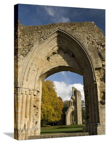 Ruins of Glastonbury Abbey, Glastonbury, Somerset, England, United Kingdom, Europe--Stretched Canvas Print