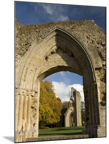 Ruins of Glastonbury Abbey, Glastonbury, Somerset, England, United Kingdom, Europe--Mounted Photographic Print