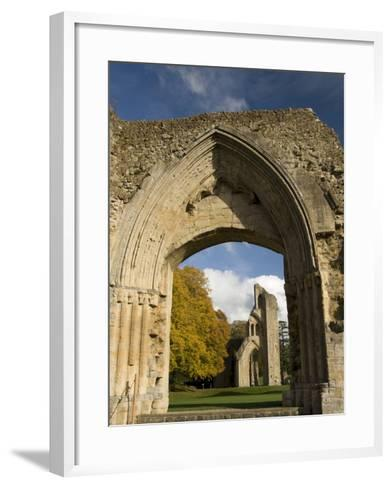 Ruins of Glastonbury Abbey, Glastonbury, Somerset, England, United Kingdom, Europe--Framed Art Print