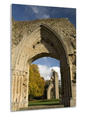 Ruins of Glastonbury Abbey, Glastonbury, Somerset, England, United Kingdom, Europe--Metal Print