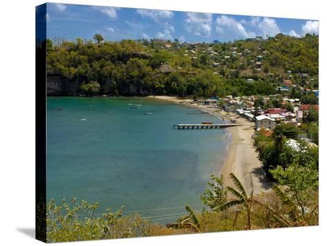 Coastal Village, Anse La Raye, St. Lucia, Windward Islands, West Indies, Caribbean, Central America--Stretched Canvas Print