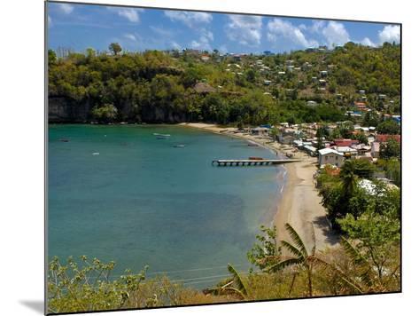 Coastal Village, Anse La Raye, St. Lucia, Windward Islands, West Indies, Caribbean, Central America--Mounted Photographic Print