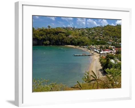 Coastal Village, Anse La Raye, St. Lucia, Windward Islands, West Indies, Caribbean, Central America--Framed Art Print