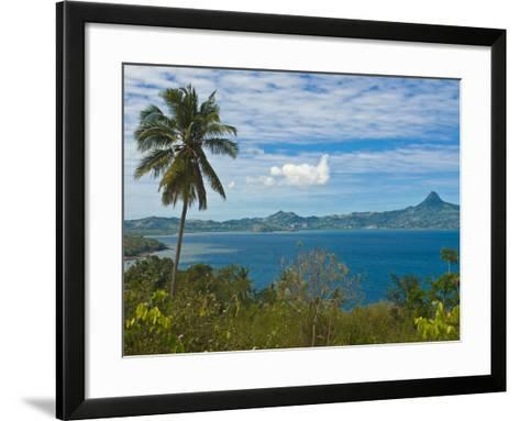 View Over the Island of Grand Terre, French Departmental Collectivity of Mayotte, Indian Ocean--Framed Art Print