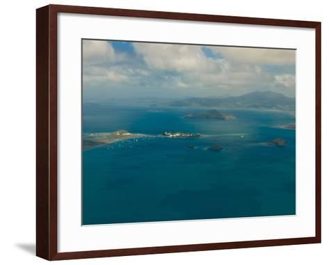 Aerial View of the Island of Grand Terre, French Departmental Collectivity of Mayotte, Africa--Framed Art Print