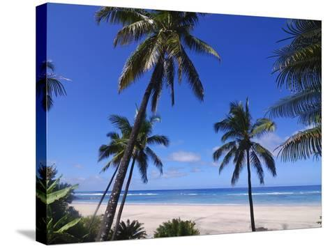 Beautiful Sandy Beach and Palms at Ngazidja, Grand Comore, Comoros, Indian Ocean, Africa--Stretched Canvas Print