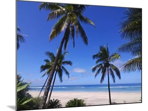 Beautiful Sandy Beach and Palms at Ngazidja, Grand Comore, Comoros, Indian Ocean, Africa--Mounted Photographic Print
