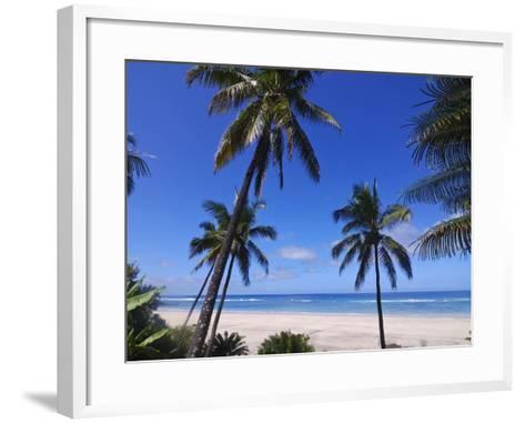 Beautiful Sandy Beach and Palms at Ngazidja, Grand Comore, Comoros, Indian Ocean, Africa--Framed Art Print