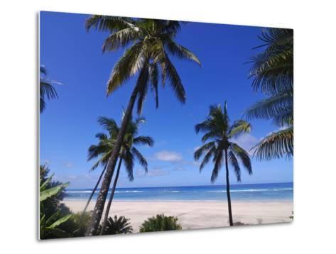 Beautiful Sandy Beach and Palms at Ngazidja, Grand Comore, Comoros, Indian Ocean, Africa--Metal Print