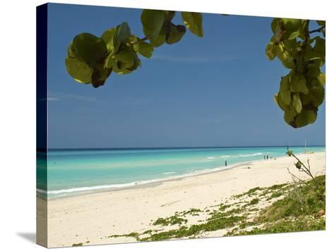 White Sand Beach of Playa Del Este, Cuba, West Indies, Caribbean, Central America--Stretched Canvas Print